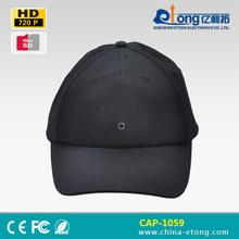 Black baseball cap camera support take photo and audio invisible hidden camera