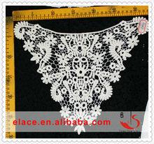 Nouvelle arrivée blanc accessoires de vêtement de broderie soluble dans l'eau guipure dentelle col crochet patterns