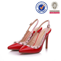 China factory sell well red real leather high class mens leather dress shoes