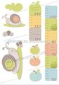 Caracol cartoon papel gráfico decoração/apple& forma quadrada crianças aprendizagem gráficos/crianças adesivos de parede