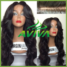 6A/7A grade aviva wigs wholesale cheap human hair full lace wigs silk top glueless with combs