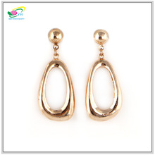Europe And America Hot Alloy Gold Plated Earrings