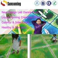 Charming liquid Flowing Rainbow Colorful Interactive Led Dance Floor