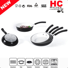 2014 Promotion Gift 6 Piece Aluminum White Ceramic Coating Cookware Set,Frying PAN (HC-FTC129)