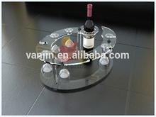 Acrylic 1 bottle holder with 8 wine glass holder 9061409208