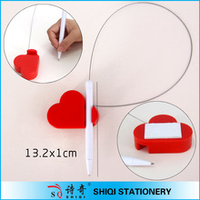 Newest plastic red heart shape stand pen