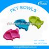 fish shape cheap plastic pet bowls for cats