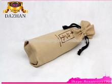 wholesale printed burlap wine pouch burlap bag