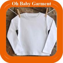 High Quality Kid Long Sleeve T-Shirt 100% Cotton Plain White T-Shirt Wholesale Kids Clothing