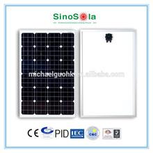 80 watt monocrystalline solar panel with TUV/IEC61215/IEC61730/CEC/CE/PID