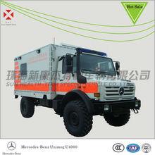 Mercedes Benz Unimog U4000 Emergency Rescue Ambulance,hospital transport cart,Mobile Hospital Vehicle, Ambulance 4wd,