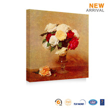 chinese watercolor oil painting red rose flower picture