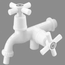(PT-021)ABS material multifunctional faucet, two cross handle basin water mixer