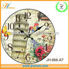 plastic simple antique skeleton clock for wall