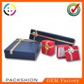 Fashional design espuma& veludo de inserção do papel de embalagem caixa de jóias