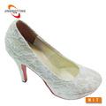 moda sexy white lace sapatos de casamento