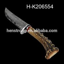 faca de caça de aplicação e fixa lâmina de faca tipo faca de damasco
