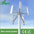 molino de viento de sistema 5kw para uso en el hogar