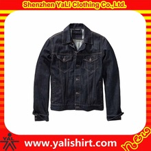 Cheapest new designer fashion dark blue washed cotton fitness denim jackets for men