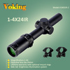 1-4X24IR V2402IR-2 rifle scope adjustment with covers China wholesale OEM rifle scope hunting equipment