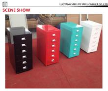 Living room furniture vertical ornamental movable 6 drawer cabinet/ ornamental vertical multi drawer storage cabinet