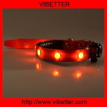 Fashion Wholesale illuminated flashing led dog collar flashing led light pet collar