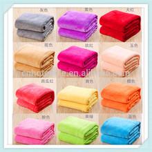 2015 Solid Blue Blanket Bedding Throw Fleece Full Queen Super Soft New Classic Premium 100% Cotton Blanket King
