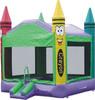 crayon theme bounce house inflatable bouncer jump bouncy castle moonwalk jumper