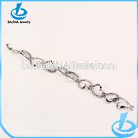 Wholesale new arrival silver plated heart bracelet metal