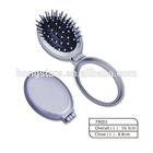 cushion plastic hair brush with mirror