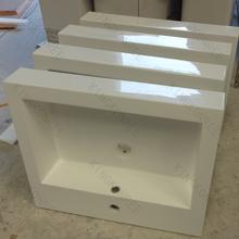 Sanitary Ware Counter Top bath solid surface wash basin Rectangle