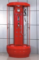 classic red telephone booth shape shower room & complete shower cabin