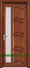 simple design wood glass insert bathroom door simple design