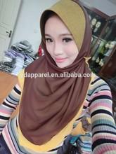 Stylish Celebrity one piece hijab Style Soft chiffon 2layer scarf
