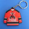 hockey pvc keychains, scorpions team shirt keyrings, scorpions mulhouse key rings custom plastic