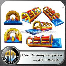 Outdoor inflatable toboggan slide