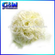 Ivory Cream Rose Kissing Balls Elegant Wedding Flower Pomanders Decoration