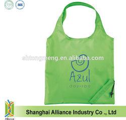 190T polyester nylon folding bag/heart shaped gift bag/heart shaped foldable bag