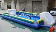 children inflatable human foosball court/human foosball inflatable