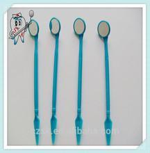 Hot sale disposables dental blue mouth mirror /dental probe/dental tweezer