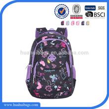 Beautiful girls school bag simple design big compartment