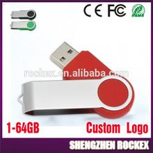 Marketing Gift Swivel USB Flash Drive 1GB to 64GB MX4838