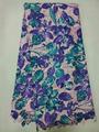 Cor de água padrão de flor de crochê rendas tecido fl9916-5