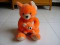 35cm promocionais personalizados pelúcia laranja de pelúcia do rato( ratos) animal brinquedo do bebê com mouse( ratos) para o dia das mães