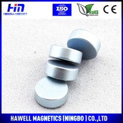Zinc/Zn coated NdFeb small round magnet made in China Neodymium magnet manufacturer