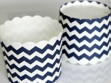 Navy chevron paper muffin cup and baking for cakes