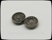 nice garment accessories, washable metal rivets for jeans, light black nickel zinc alloy