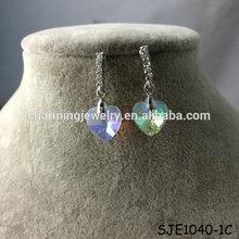 China Jewelry 2014 Heart Shaped Dangle Earrings