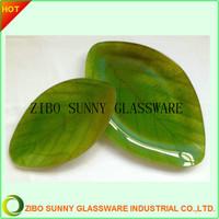 Leaf shape Glass Serving Plate Dish Tray Set Of 3 pcs