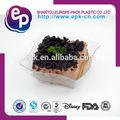 venda quente grau alimentício talheres de plástico pequeno prato quadrado lfgb fda bpa free